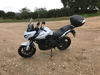 A2 restricted Kawasaki Versys 650 with top box and heated grips