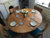 Vintage Ercol dinning table and G Plan chairs