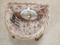 Bicycle Wicker Picnic Basket