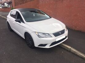 2013 SEAT LEON SE Tdi 1.6 AUTOMATIC WHITE 12 MONTH MOT! CARBON ROOF