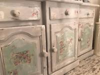Shabby chic side cabinet /dresser