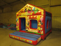Minnie & Mickey Clubhouse Bouncy Castle + Blower / Fan . Top Condition .