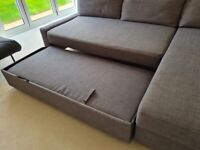 Large IKEA Corner sofa-bed with storage