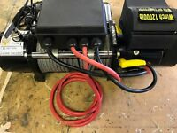 Recovery winch with built in compressor