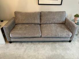 Pair of matching grey sofas