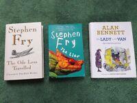 Stephen Fry & Alan Bennett Books, very good condition