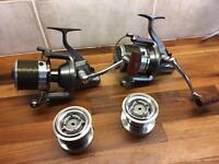 Daiwa entoh 5500 reels x 2 with spare spools