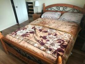 Double bed for sale with mattress