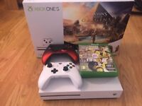 Xbox ONE S 1TB with 2 Pads and games Under warranty like new