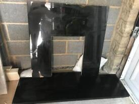 Genuine Granite Hearth & Backpanel