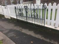 quality set of well built steel driveway gates £120 CAN DELIVER
