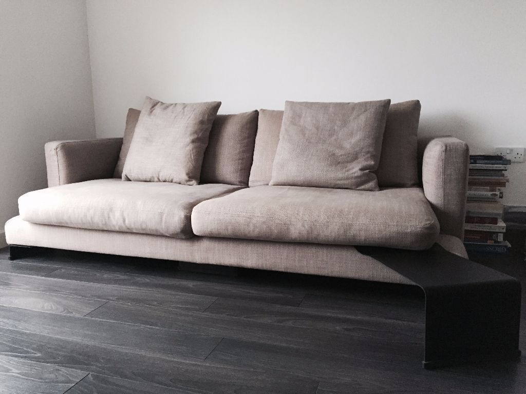 Lazytime plus sofa camerich - Camerich Lazytime Three Seat Sofa With Narrow Leather Side Table