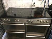 Diplomat range gas cooker stainless steel 110cm