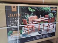 Brand New Boxed 5pce Wood Garden Furniture