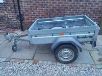 Brenderup 1150S Galvanised car Trailer / Jockey Wheel / Wheel Lock, spare wheel