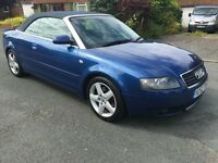 Audi A4 2.4 Sport Convertible...Blue Metallic with Full Leather - FSH - PX WELCOME
