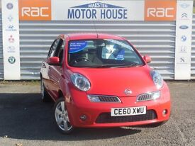 Nissan Micra N-TEC (SAT NAV) FREE MOT'S AS LONG AS YOU OWN THE CAR!!! (red) 2010