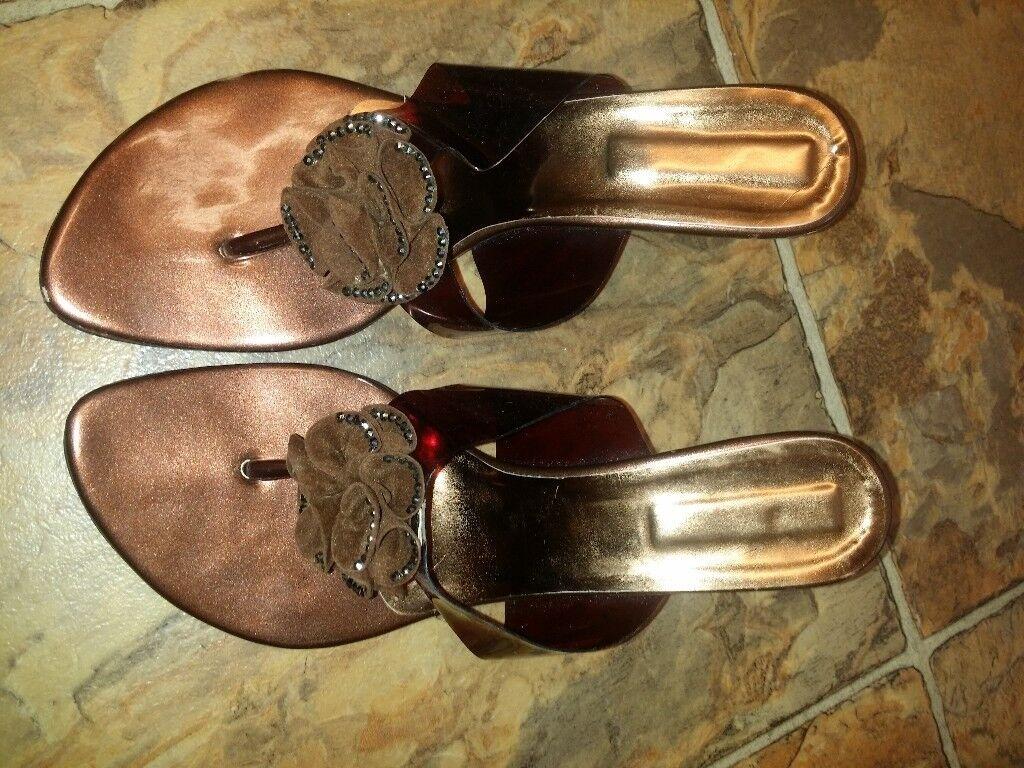 Brown sandals heels