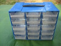 15 Drawer Screw/Nail Plastic Storage Unit for £5.00