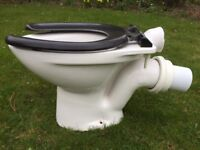 Child size toilet bowl with cistern