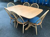 Showroom Condition Ercol Furniture New Module Table/Chairs/Cushions Possible Delivery