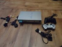 PS2 PLAY STATION 2 WITH EVERY THING NEEDED POWER LEAD-WIRE-MEMORY CARD-2 CONTROLLERS