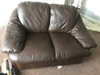 FREE TO COLLECTER BROWN 2 SEATER SOFA