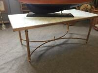 French marble coffee table ormolu