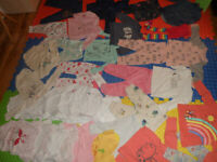 Big baby girl clothes bundle size 6-9 months