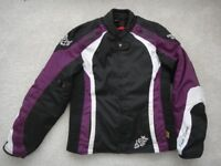 Frank Thomas motor bike jacket lady XL black/ white/purple