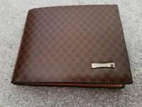 Mens brown leather wallet (jinbaoli)