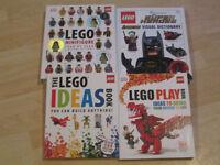 SELECTION OF LARGE LEGO BOOKS