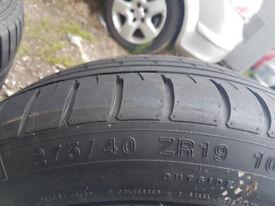 DARE BMW 19 inch Alloy Wheels 275/40/ZR19 - 5 Stud Alloy Wheels - BMW Volkswagen Seat Golf Mercedes