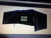 Black 'Airwave' mini marquee 6mx3m
