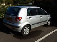 Hyundai Getz 1.3 automatic 5-door hatchback (2003). Only 31000 miles. New MOT.