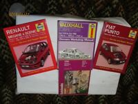 Car Workshop Manuals ( 5 Number)1979 Chrysler Sunbeam--Punto--Megane -- Carlton--Wolseley Six