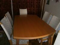 Ikea Pine Dining Room Table and 6 Chairs