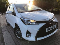 TOYOTA YARIS 16 REG 2016 DONE ONLY 9000 MILES TOYOTA HISTORY NOT AURIS GOLF POLO PRIUS HONDA FIAT