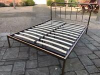 Super Comfy Mattress & Double Bed Bronze Frame Vintage Style