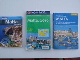 Malta - Travel Book, Hiking Book & Map. All recent - bargain bundle!