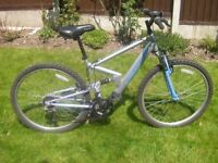 """Ladies Apollo FS26 Front and Rear suspension mountain Bike, 26""""Alloy wheels, 17"""" FFG Frame, 18 Gears"""