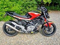 Suzuki SFV650 Gladius Sports Twin in Classic Barry Sheene Texaco Heron Colours Motorbike