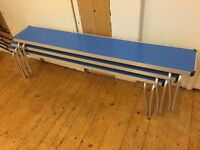 Benches with folding legs