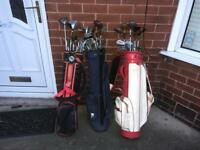 3 BAGS GOLF CLUBS, £10 a bag, £25 all 3