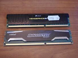 12GB Computer RAM 1 x 8GB & 1 x 4GB