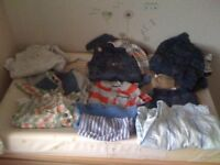 bundle of baby boys clothes first size newborn