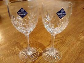Edinburgh Crystal Wineglass Duo