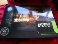 EXCELLENT 1440P Capable KFA2 GTX 670 OC Edition Graphics Card BOXED,RRP £200+, £110 NO OFFERS