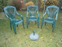Garden Chairs With Parasol Base