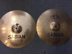 "Cymbales Hi Hat Sabian B8 Pro 14"" usagées-used"